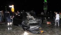 İzmirde trafik kazası: 1 ölü, 1 yaralı