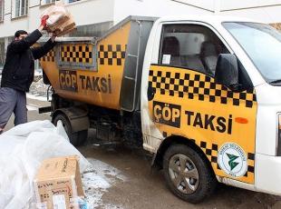 """Çöpü gören """"taksi"""" çağırıyor"""