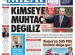 12 Şubat 2016 Gazete manşetleri