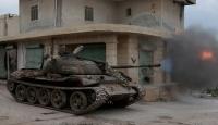 Esed güçlerinin karargahını tankla vurdular
