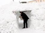 """Ardahanda """"kardan"""" tünel yaptılar"""