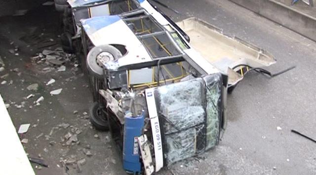 Ankara'da Otobüs Kazası: 1 Ölü 8 Yaralı