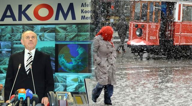 İstanbulda Kar Alarmı