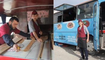 Konya'da Mobil etli ekmek fýrýný