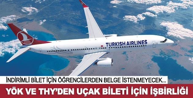 Öðrencilere indirimli uçak bileti için iþbirliði