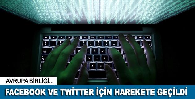 AB, Facebook ve Twitter için harekete geçti