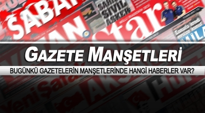 Gazete manşetleri (24 Ağustos 2016)