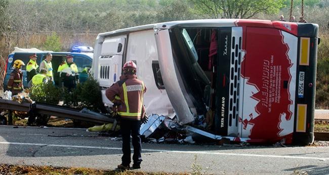 İspanyada trafik kazası