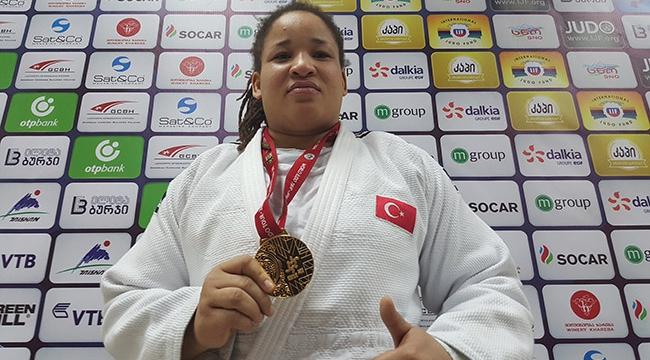 Milli judocu Sait'ten altýn madalya