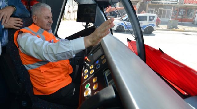 EXPO raylı sistem hattında ilk test sürüşünü gerçekleştirdi