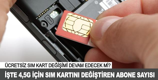 52 milyon abone 4,5G için SIM kart deðiþtirdi