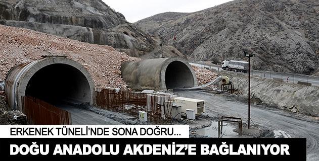 Doðu Anadolu'yu Akdeniz'e baðlayan tünelde sona doðru