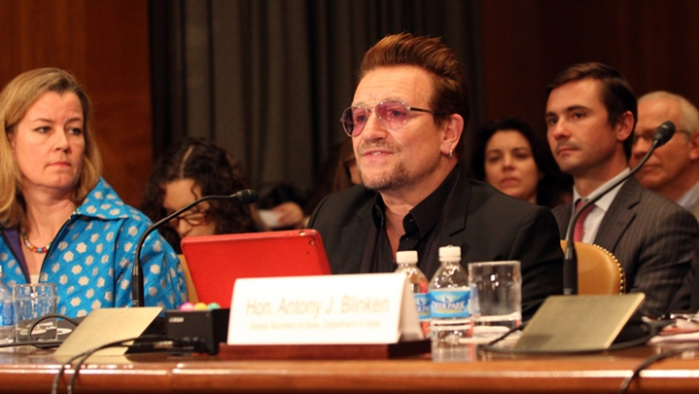 U2 grubunun solisti Bono, ABD Kongresinde