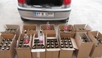 200 şişe sahte içki ele geçirildi