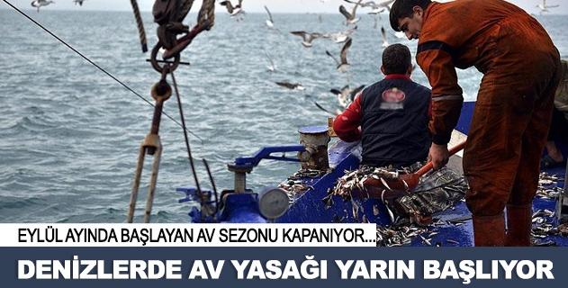 Denizlerde av yasaðý yarýn baþlýyor
