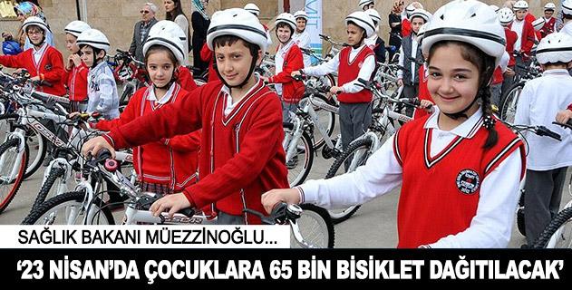 Çocuklara 65 bin bisiklet dağıtılacak