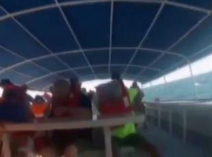 Gemi böyle alabora oldu