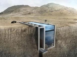Uçurumun içindeki ev