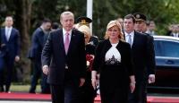 Cumhurbaşkanı Erdoğan Hırvatistanda resmi törenle karşılandı