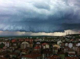 Edirne'de ilginç görüntü