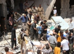Rus uçakları Halepi vurdu