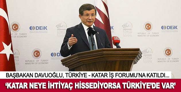 Katar neye ihtiyaç hissediyorsa Türkiyede var