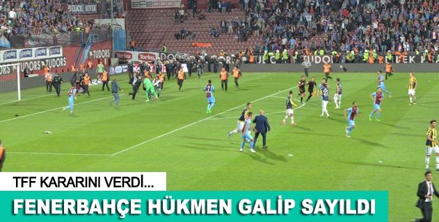TFFden Trabzonspor-Fenerbahçe maçı açıklaması