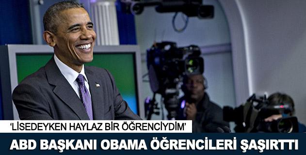 ABD Başkanı Obama şaşırttı