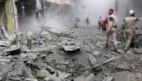 Halepte yerleşim yerine bombardıman