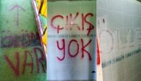İnegölsporun soyunma odasına tehdit içerikli yazılar