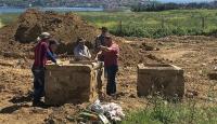 Tekirdağda arkeolojik kazılarda iki lahit bulundu