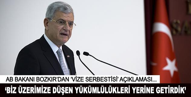 Volkan Bozkırdan vize serbestisine ilişkin açıklama