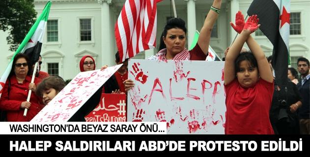 Halep saldırıları ABDde protesto edildi