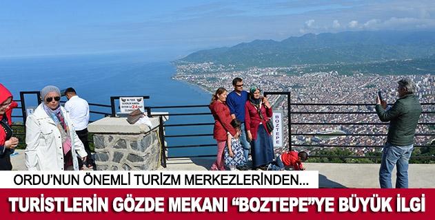 """Turistlerin gözde mekanı """"Boztepe""""ye büyük ilgi"""