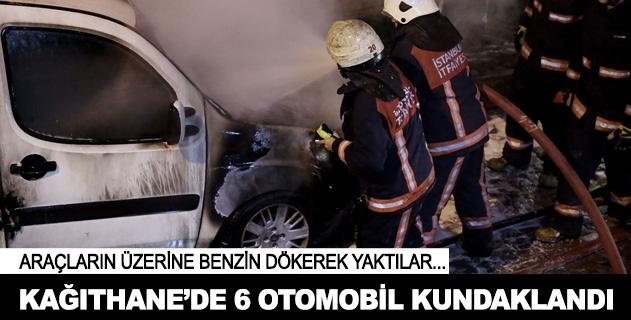 İstanbul Kağıthanede 6 araç kundaklandı