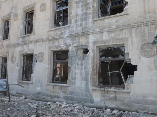 Terörün camideki tahribatı