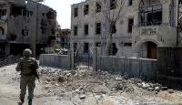 Teröristlerin tahribatı Darusselam Camisinin duvarlarında