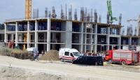 Manisada hastane inşaatında göçük