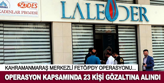 FETÖ/PDY operasyonu: 23 gözaltı