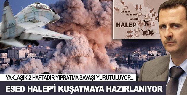 Esed Halepi kuşatma hazırlığında