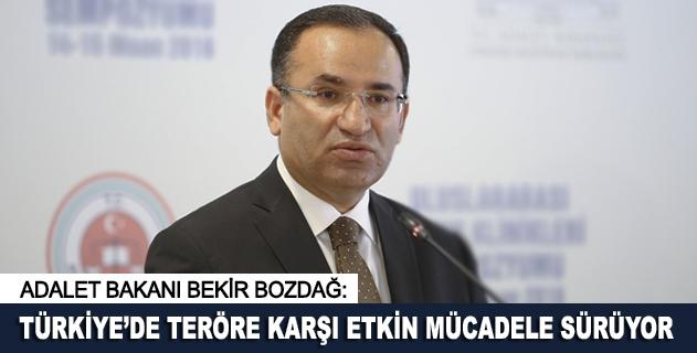 Türkiyede teröre karşı etkin mücadele sürüyor