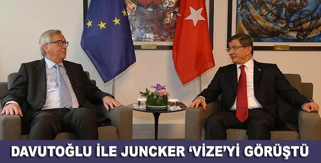 Davutoğlu ile Juncker arasında vize görüşmesi