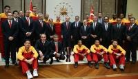 Erdoğan Galatasaray Odeabank Erkek Basketbol Takımını kabul etti