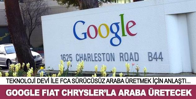 Google ile Fiat Chrysler sürücüsüz araba üretecek