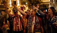 Atletico Madrid taraftarının final coşkusu