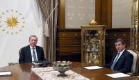 Cumhurbaşkanı Erdoğan, Başbakan Davutoğlunu kabul etti