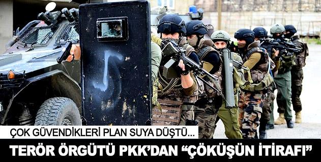 """Terör örgütü PKKdan """"çöküşün itirafı"""""""