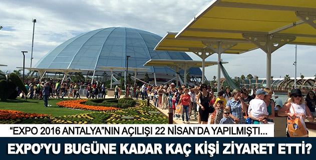 EXPOyu bugüne kadar kaç kişi ziyaret etti?
