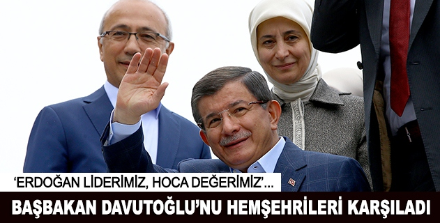 Başbakan Davutoğlu memleketinde