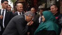Bakanlardan terör saldırısında zarar gören esnafa ziyaret